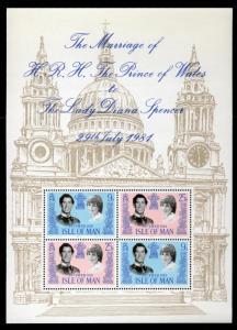 Isle of Man 199a MNH Charles & Diana Wedding