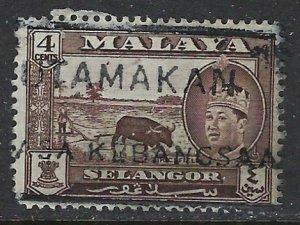Malaya-Selangor 104 Used 1957 issue (ap7103)
