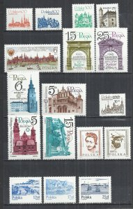 POLAND FROM VARIOUS YEARS -  17 DIFF. IN CPL SETS - MNH MINT