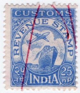 (I.B) India Revenue : Customs 25np