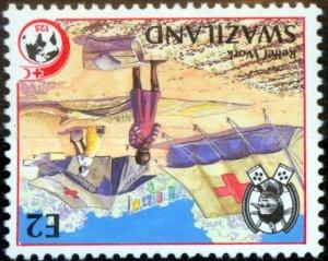 Swaziland 1989 Red Coss 2e SG556w Wmk Inverted V.F MNH