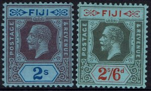 FIJI 1922 KGV 2/- AND 2/6 WMK MULTI SCRIPT CA