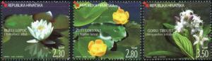 Croatia #623-625 Aquatic Flowers ~ (11132)