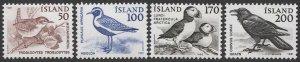 ICELAND 1980-81  Sc 535,543-46  MNH VF, BIRDS