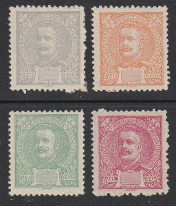 PORTUGAL 1895 4 different colour proofs with void value panel...............B250