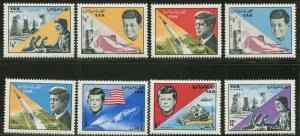 YEMEN AR Sc#216-216G 1965 Kennedy & Space Complete Mint OG NH