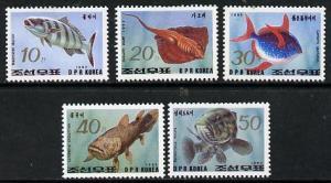 North Korea 1993 Fish perf set of 5 unmounted mint*