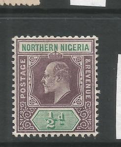 NORTHERN NIGERIA  1905   1/2d  KEVII   MH     SG 20a