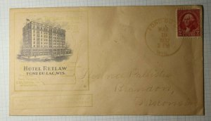 Hotel Retlaw Fond de Lac WI SPA 1932 Philatelic Convention Cachet Cover