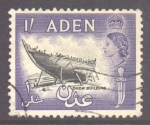 Aden Scott 55a - SG63, 1953 Elizabeth II 1/- Black used
