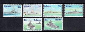 BAHAMAS - 2001 VISITS OF ROYAL NAVY SHIPS - SCOTT 1023 TO 1028 - MNH