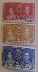 Northern Rhodesia Stamp 22-4 MNH Royalty Topical