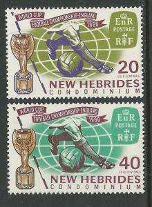 New Hebrides-Br. # 116-17  World Cup Soccer   (2) Mint NH