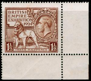 SG431, 1924 1½d brown, NH MINT. Cat £20. CORNER MARGINAL.