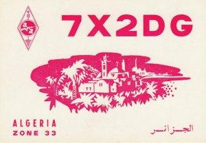 9784 Amateur Radio QSL Card ALGER ALGERIA
