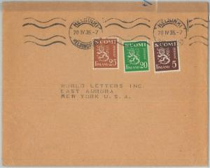 71731 - FINLAND - Postal History -   COVER to USA 1935