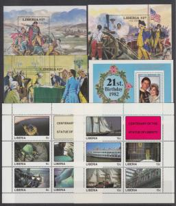 Liberia Sc 911/1147 MNH. 13 diff Souvenir Sheets, VF