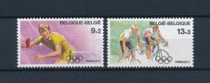 [56374] Belgium Belgique 1988 Olympic games Seoul Tabletennis Cycling MNH