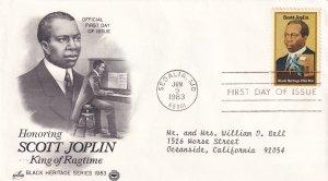 1983, Honoring Scott Joplin, Art Craft/PCS, FDC (E11368)