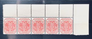 SOUTH AFRICA TRANSVAAL 1894 SG# 200 SC# 148 Wagon With Shafts Gutter Block 4 MNH