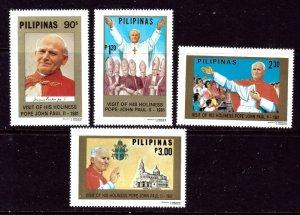 Philippines 1507-10 MNH 1981 Visit of Pope John Paul II    (ap3634)