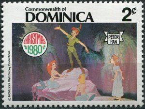 Dominica 1980. Peter Pan and Wendy in Neverland (MNH OG) Stamp