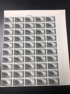 US 762 Acadia Imperf Sheet Of 50 Mint No Gum As Issued - SUPERB.