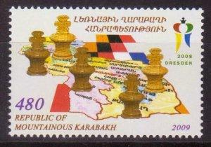 NAGORNO MOUNTAINOUS KARABAKH ARMENIA 2009 CHESS OLYMPIAD GERMANY MNH R17533l