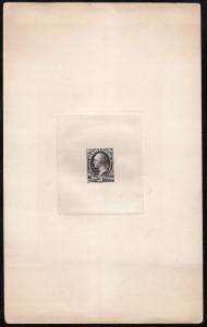 #O3TC1a 3¢ LARGE DIE PROOF ON INDIA PAPER (BLACK) HV6327