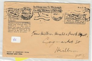 South Africa 1942 OHMS Cover To Heilbron Postal History J6063