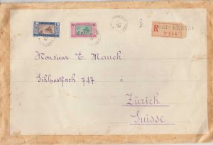 Mauritania 1F25 and 5F Overprinted 10F Crossing the Desert 1939 Port-Etienne,...