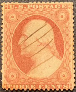 #26 – 1857-61 3c Washington Used Average