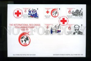 161422 ISLE OF MAN 1989 International RED CROSS FDC cover