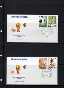Senegal 1982 FDC  Spain Soccer World Cup Set (4) Sc#583-586
