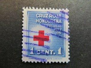 A4P11F19 Honduras Postal Tax Stamp 1941 1c used