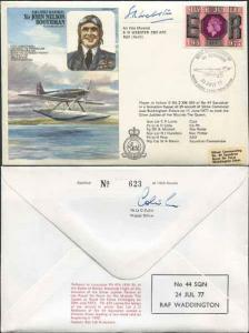 HA17c Air Chief Marshal Sir John Nelson Boothman Signed by AVM S.N. Webster (A)
