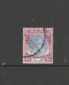 Malaya Kelantan 1951/5 $1 Used SG 79