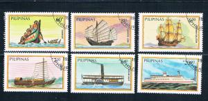 Philippines 1718-23 Used set Boats 1984 (P0319)