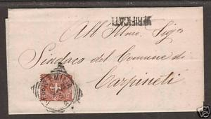 Italy Sc 74 on 1900 SFL, Fieggis Emilia squared circle