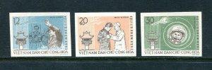 x183 - VIETNAM 1962 Astronaut German Titov Visit Set. Unmounted Mint MNH