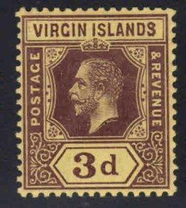 Virgin Islands  Scott 42 MH* KGV wmk 3, die 1