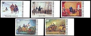 Upper Volta 365-367,C209-210, MNH imperf., American Revolution Bicentennial