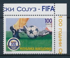 Makedonien stamp 100th anniversary of FIFA margin corner MNH 2004 WS101980