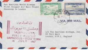 1947, 1st Flt., Damascus, Syria to London, England (32349)