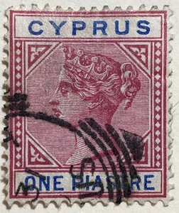 AlexStamps CYPRUS #21 VF Used