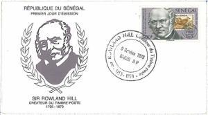 SENEGAL -  POSTAL HISTORY - FDC COVER 1979 : Sir Rowland Hill