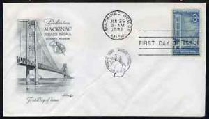 United States 1958 Mackinac Bridge Commemoration on illus...