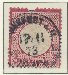 Germany Stamp Scott #23, Used, Faulty - Free U.S. Shipping, Free Worldwide Sh...