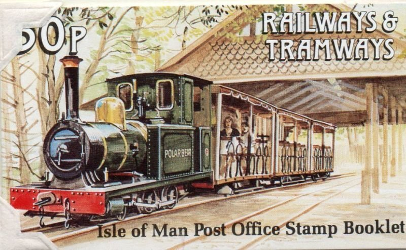 Isle of Man Sc 458c 1991 Trains stamp booklet mint NH