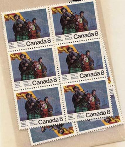 Canada - #619 - 1973 8c Scottish Settlers X 100 VF-NH